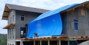 Тент на крышу дома размер 8х10