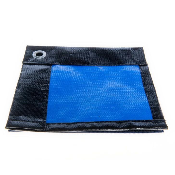"Тент тарпаулин 3 x 5 м ""политарп 60"", с люверсами (голубой/серебро)"