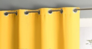Штора уличная на веранду (В-220*Ш-150) Желтая, (ткань Оксфорд 600)